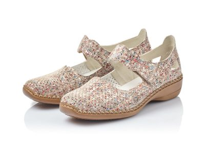 Rieker Beige/Multi Strapped Shoes