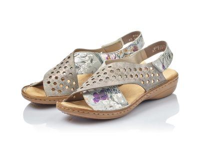 Rieker Metallic Wrap Over Sandal