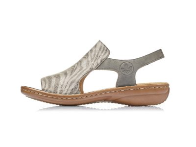 Rieker Grey Animal Print Sandals