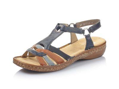 Rieker Blue and Brown Sandal