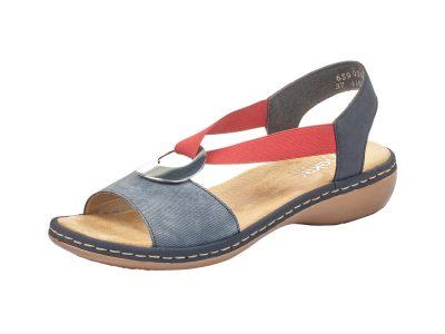 Rieker Red, White & Blue Sandal