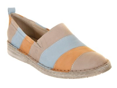 Josef Seibel Orange, Beige and Blue Shoes