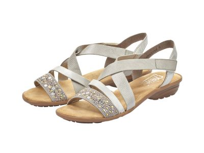 Rieker Grey and Silver Sandal