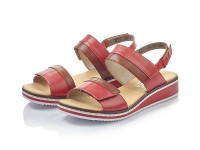 Rieker Red Adjustable Sandal