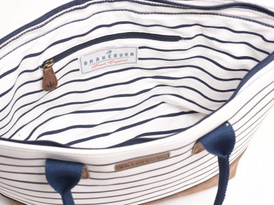 Brakeburn Tote Bag Navy/White