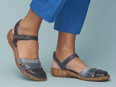 Josef Seibel Blue Multi Shoe/Sandal