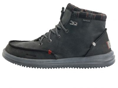HEY DUDE Bradley Black Boots – Recycled Leather