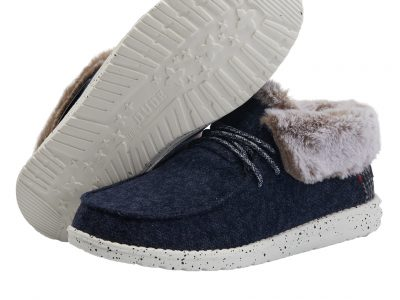 HEY DUDE Britt Faux Fur Lined Boots Navy