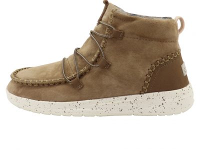 HEY DUDE Eloise Nut Suede Boots