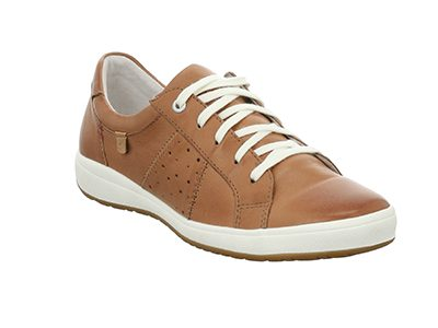 JOSEF SEIBEL Camel Leather Lace Shoes