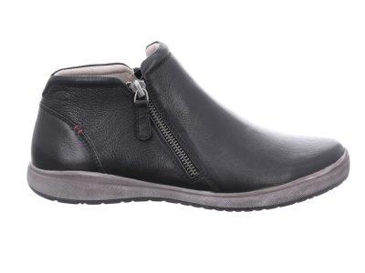 JOSEF SEIBEL Black Zip Leather Boots