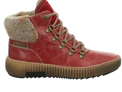 JOSEF SEIBEL Red Leather Boots