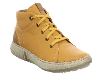 JOSEF SEIBEL Yellow Leather Boots