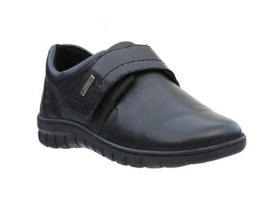 JOSEF SEIBEL Black Leather Water Resistant Shoes