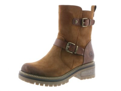RIEKER Tan Zip Boots