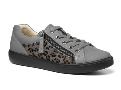 HOTTER Chase Leopard Print Grey