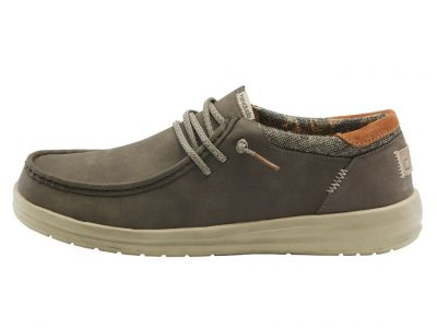 HEY DUDE Paul Chocolate Shoes – Recycled Leather