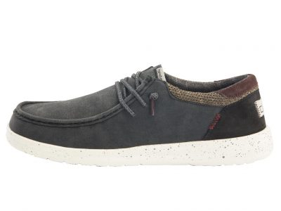 HEY DUDE Paul Black Shoes – Recycled Leather