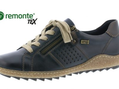 REMONTE Blue Leather Lace Shoes