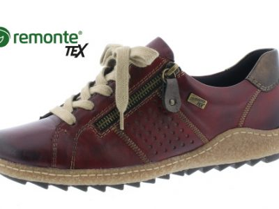 REMONTE Red Leather Lace Shoes