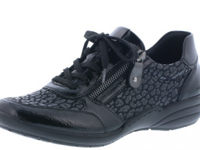 REMONTE Black Zip & Lace Shoes