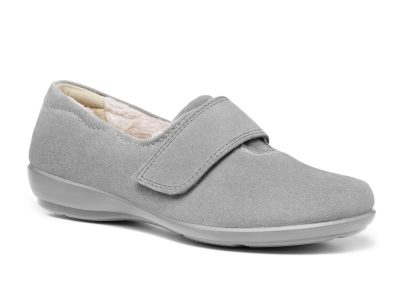 HOTTER Toasty Grey Slippers