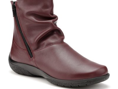 HOTTER Whisper Maroon Leather Boots