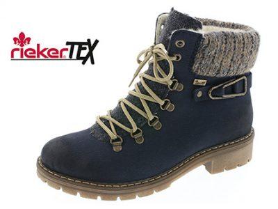 RIEKER Blue Ankle Boots